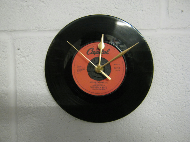 "The Beach Boys - ""God Only Knows"" 7"" Vinyl Record Wall Clock"