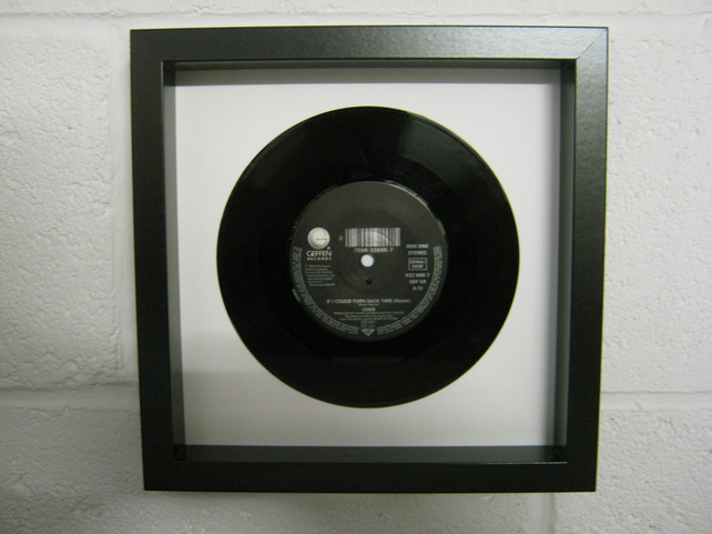 "Cher  - ""If I Could Turn Back Time"" Wall Framed 7"" Record"