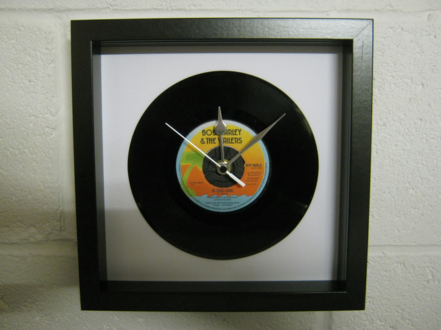 "Bob Marley and The Wailers - ""Is This Love"" Framed 7"" Record Wall Clock"