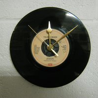 "Talking Heads - ""And She Was"" 7"" Vinyl Record Wall Clock"