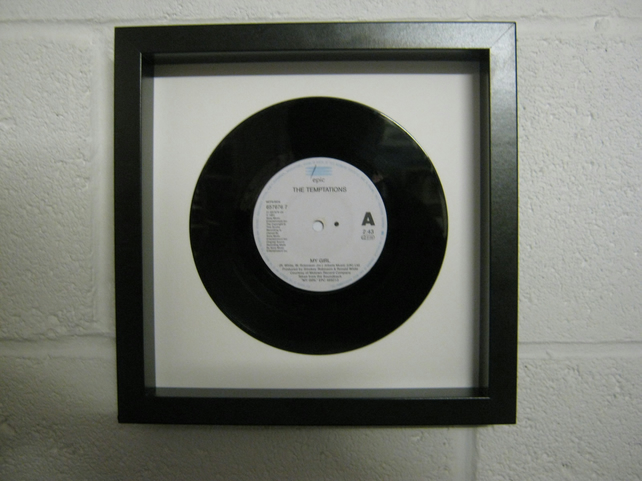 "The Temptations - ""My Girl"" Wall Framed 7"" Record"