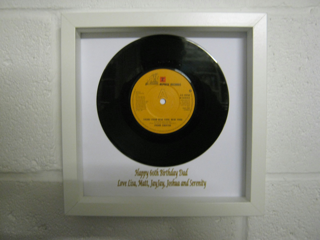 "Frank Sinatra - ""New York New York"" Wall Framed 7"" Record"