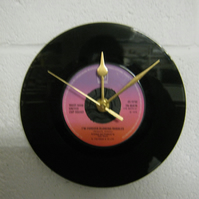 "West Ham United  - ""Forever Blowing Bubbles"" 7"" Vinyl Record Wall Clock"