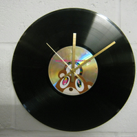 "Kanye West -  ""Graduation"" 12"" CD & Vinyl Record Wall Clock"