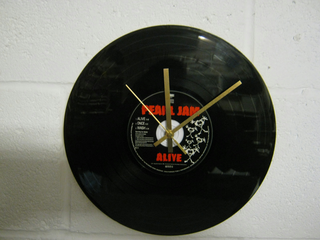 "Pearl Jam -  ""Alive"" 12"" CD & Vinyl Record Wall Clock"