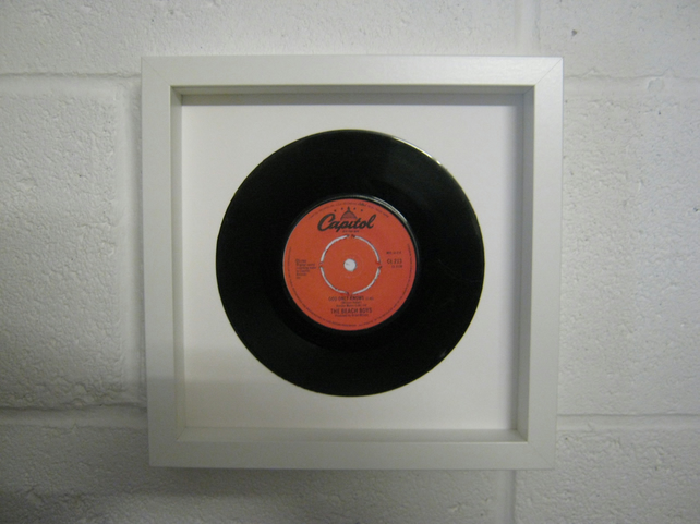 "The Beach Boys  - ""God Only Knows"" Wall Framed 7"" Record"
