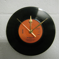 "Boston - ""More Than A Feeling"" 7"" Vinyl Record Wall Clock"