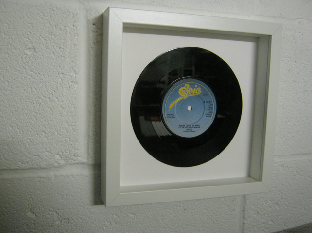 "Sade -  ""Your Love Is King"" Wall Framed 7"" Record"