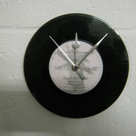 "Echo & The Bunnymen - ""Lips Like Sugar"" 7"" Vinyl Record Wall Clock"