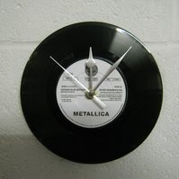 "Metallica - ""Nothing Else Matters"" 7"" Vinyl Record Wall Clock"