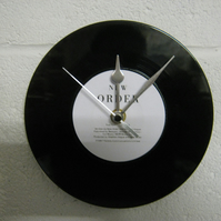 "New Order - ""True Faith"" 7"" Vinyl Record Wall Clock"