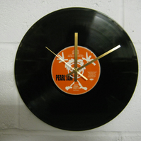 "Pearl Jam -  ""Oceans"" 12"" CD & Vinyl Record Wall Clock"