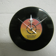 "Tom Petty - ""American Girl"" 7"" Vinyl Record Wall Clock"
