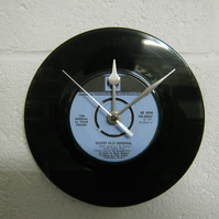 "Arsenal F.C. - ""Good Old Arsenal"" 7"" Vinyl Record Wall Clock"
