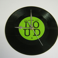 "Ed Sheeran - ""Thinking Out Loud"" 7"" Vinyl Record Wall Clock"