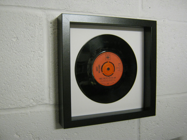 "Andy Williams - ""Can't Take My Eyes Off Of You"" Wall Framed 7"" Vinyl Record"
