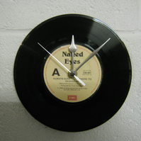 "Naked Eyes - ""There's Always Something To Remind Me"" 7"" Vinyl Record Wall Clock"