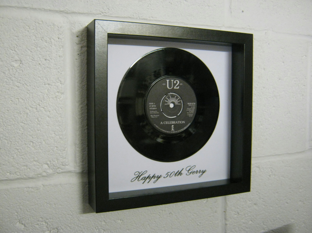 "U2 - ""A Celebration"" Wall Framed 7"" Vinyl Record"