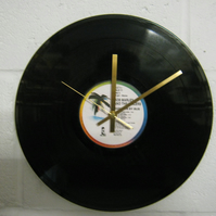 "Bob Marley & The Wailers -  ""Babylon By Bus"" 12"" Vinyl Record Wall Clock"