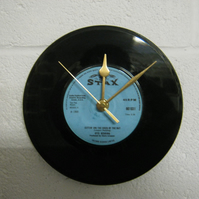 "Otis Redding - ""(Sittin' On) The Dock Of The Bay"" 7"" Record Wall Clock"