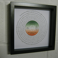 "Bette Midler - ""Wind Beneath My Wings"" Wall Framed Spiral Lyrics"