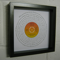 "Billy Joel - ""You're My Home"" Wall Framed Spiral Lyrics"