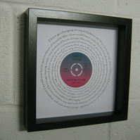"Billy Joel - ""Just The Way You Are"" Wall Framed Spiral Lyrics"