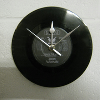 "John Farnham - ""You're The Voice"" 7"" Record Wall Clock"