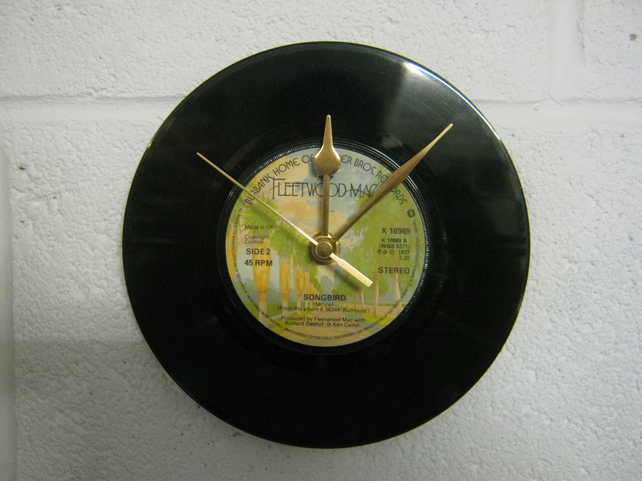 "Fleetwood Mac - ""Songbird"" 7"" Record Wall Clock"