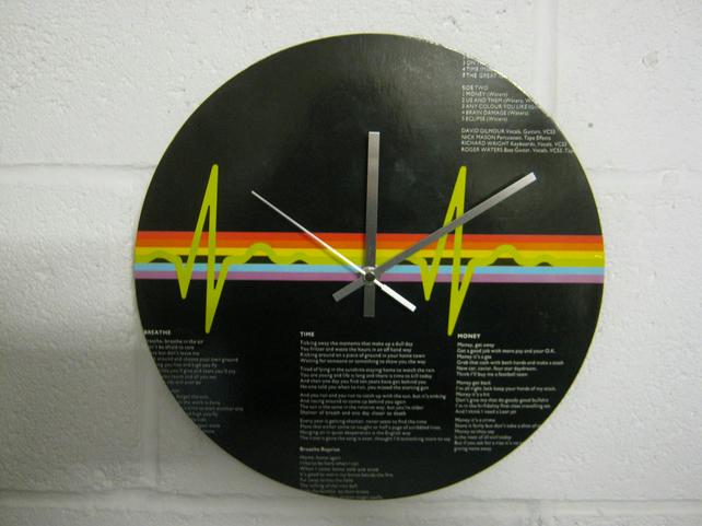 "Pink Floyd -  ""Dark Side Of The Moon"" 12"" Record Sleeve Wall Clock"