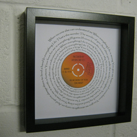 "Elvis Presley - ""The Wonder Of You"" Wall Framed Spiral Lyrics"