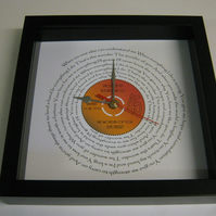 "Elvis Presley - ""The Wonder Of You"" Framed Spiraling Lyrics Wall Clock"