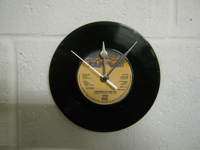 "KISS - ""I Was Made For Lovin' You"" 7"" Vinyl Record Wall Clock"