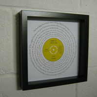 "Etta James - ""At Last"" Wall Framed Spiral Lyrics"