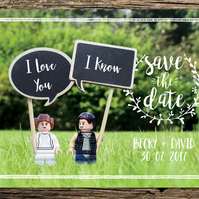Save Wars Inspired Save the Date Card