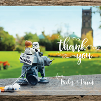 Star Wars Inspired Thank You Card
