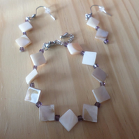Pearl effect bracelet set