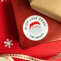 Personalised From Santa Stickers