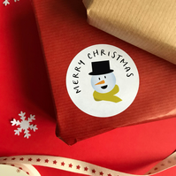 Personalised Snowman Stickers