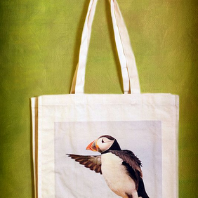 PUFFIN ROCK - TOTE BAGS INSPIRED BY NATURE FROM LISA COCKRELL PHOTOGRAPHY