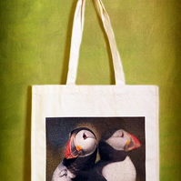 PUFFIN DOUBLES - TOTE BAGS INSPIRED BY NATURE FROM LISA COCKRELL PHOTOGRAPHY