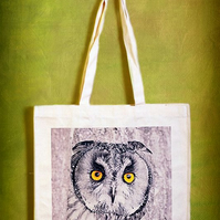 OWL STARE - TOTE BAGS INSPIRED BY NATURE FROM LISA COCKRELL PHOTOGRAPHY