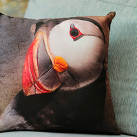 PUFFIN - CUSHION COVERS INSPIRED BY NATURE FROM LISA COCKRELL PHOTOGRAPHY