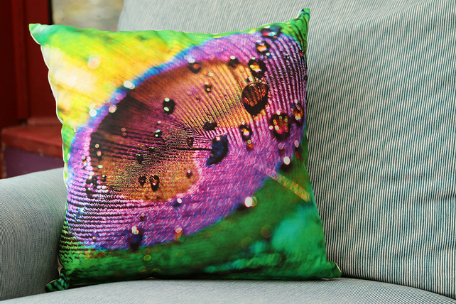 PEACOCK - CUSHION COVERS INSPIRED BY NATURE FROM LISA COCKRELL PHOTOGRAPHY