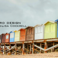 Exclusive Beach Huts Greetings Card