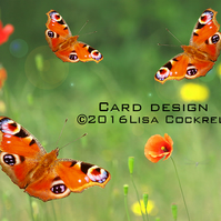Exclusive Handmade Butterfly Summer Greetings Card