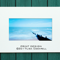 SUMMER BEACH PRINT -  MOUNTED FOR 40 X 30 CM FRAME