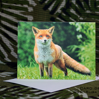 Exclusive Handmade Mr Fox Greetings Card on Archive Photo Paper