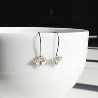 Classic sterling silver drop earrings