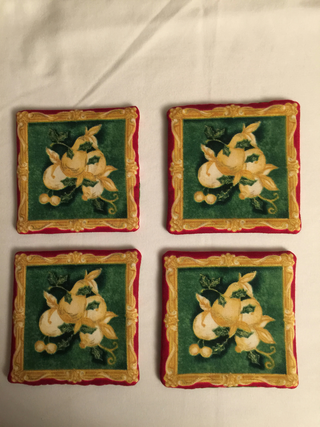 Reversible cotton coasters